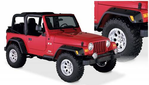 Bushwacker - Bushwacker Fender Flares,Jeep (1997-06) Wrangler Fender FlareSet of 4(Pocket Style)