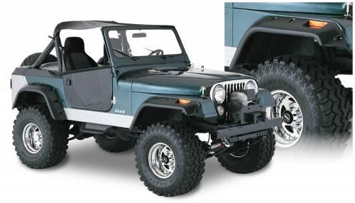 Bushwacker - Bushwacker Fender Flares,Jeep (1956-58) Willys (1959-75) CJ6 (1966-68) CJ6A (1976-86) CJ7 Set of 4(Cut-Out)
