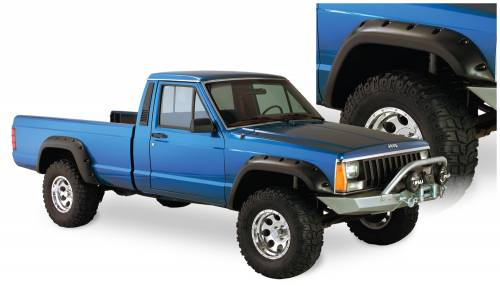 Bushwacker - Bushwacker Fender Flares,Jeep (1984-01) Cherokee Set of 4(Cut-Out)