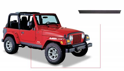 Bushwacker - Jeep Trail Armor Side Rocker Panel - Pair - OE Matte Black