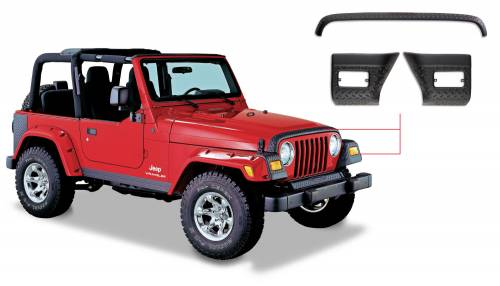 Bushwacker - Jeep Trail Armor Hood Stone Guard - Set - OE Matte Black
