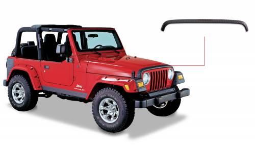 Bushwacker - Jeep Trail Armor Hood Stone Guard - OE Matte Black
