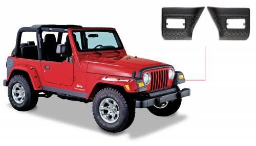 Bushwacker - Jeep Trail Armor Front Corner - Pair - OE Matte Black