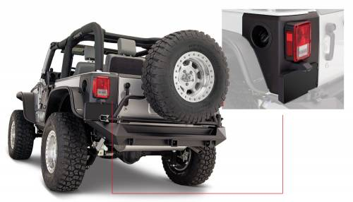 Bushwacker - Jeep Trail Armor Rear Corner - Pair - OE Matte Black
