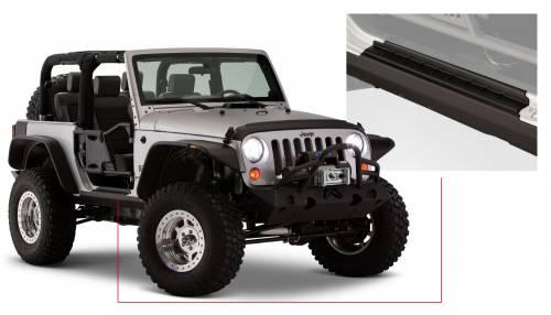 Bushwacker - Jeep Trail Armor Rocker Panel & Sill Plate - Pair - OE Matte Black