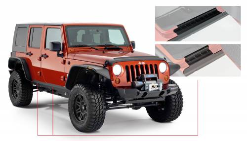 Bushwacker - Jeep Trail Armor Rocker Panel & Sill Plate - Pair - OE Matte Black