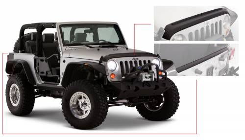 Bushwacker - Jeep Trail Armor Hood and TailGate Protector - Set - OE Matte Black