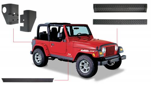 Bushwacker - Jeep Trail Armor Six Piece - Set - OE Matte Black