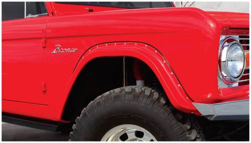 Bushwacker - Bushwacker Fender Flares,Ford (1966-77) Bronco Front Pair(Cut-Out)