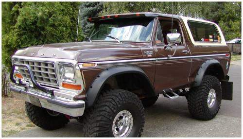 Bushwacker - Bushwacker Fender Flares,Ford (1973-79) F-100/F-250/F-350/Bronco (1975-79) F-150 (1978-79) Bronco Front Pair(Cut-Out)