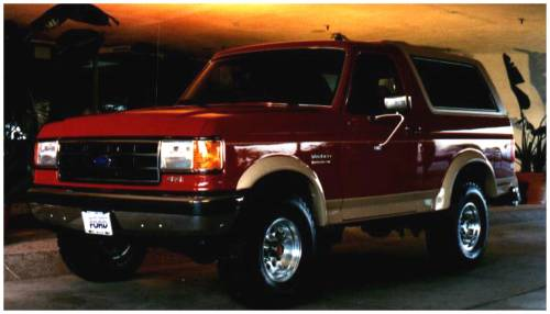 Bushwacker - Bushwacker Fender Flares,Ford (1987-91) F-150/F-250/F-350/Bronco Rear Pair(Extend-A-Fender Flare)