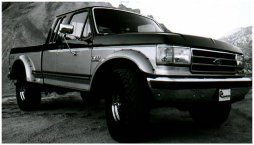 Bushwacker - Bushwacker Fender Flares,Ford (1987-91) F-150/F-250/F-350/Bronco Rear Pair(Cut-Out)