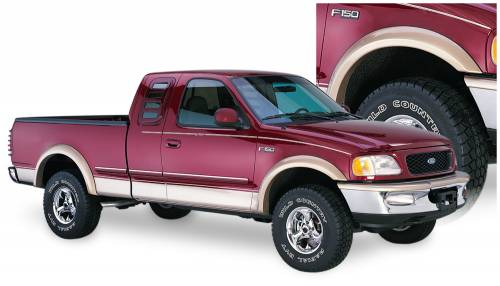 Bushwacker - Bushwacker Fender Flares,Ford (1997-04) F-150 (1998) F-250 Front Pair(Extend-A-Fender Flare)
