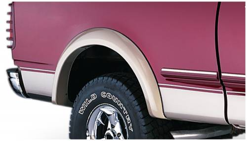 Bushwacker - Bushwacker Fender Flares,Ford (1997-04) F-150 (1998) F-250 Rear Pair(Extend-A-Fender Flare)