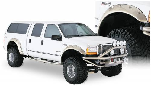 Bushwacker - Bushwacker Fender Flares,Ford (1999-07) F-250/F-350/F-450/F-550 Front Pair(Cut-Out)