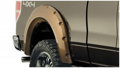 Bushwacker - Bushwacker Fender Flares,Ford (2009-14) F-150 Fender Flare Rear Pair (Pocket Style)