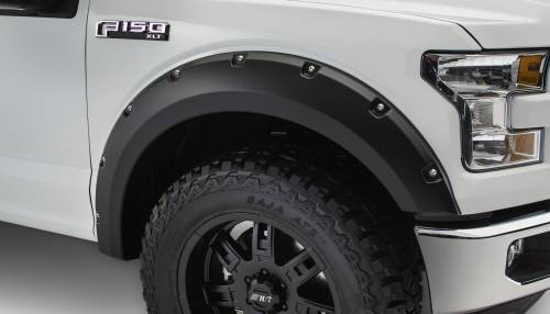 Bushwacker - Bushwacker Fender Flares,Ford (2015) F-150 Fender Flare Front Pair (Pocket Style)