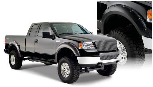 Bushwacker - Bushwacker Fender Flares,Ford / Lincoln (2004-08) F-150 (2006-08) Mark LT Fender Flare Set of 4 (Pocket Style)