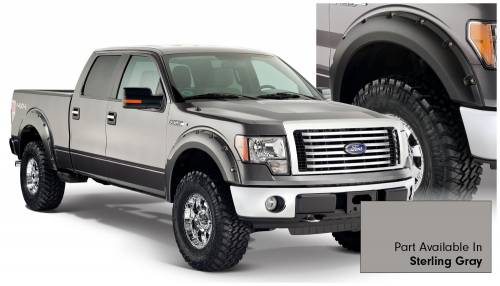 Bushwacker - Bushwacker Fender Flares,Ford (2009-14) F-150 Fender Flare Set of 4 Sterling Gray(Pocket Style)