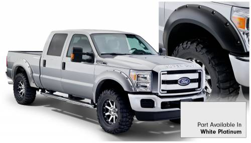 Bushwacker - Bushwacker Fender Flares,Ford (2011-14) F-250/F-350/F-450/F-550 Fender Flare Set of 4 White Platinum(Pocket Style)