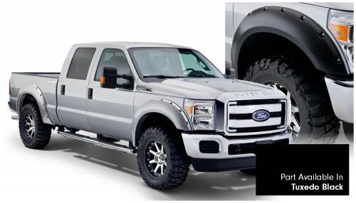 Bushwacker - Bushwacker Fender Flares,Ford (2011-14) F-250/F-350/F-450/F-550 Fender Flare Set of 4 Tuxedo Black(Pocket Style)