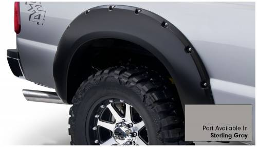 Bushwacker - Bushwacker Fender Flares,Ford (2011-14) F-250/F-350/F-450/F-550 Fender Flare Set of 4 Sterling Gray(Pocket Style)