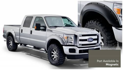 Bushwacker - Bushwacker Fender Flares,Ford (2011-14) F-250/F-350/F-450/F-550 Fender Flare Set of 4 Magnetic(Pocket Style)
