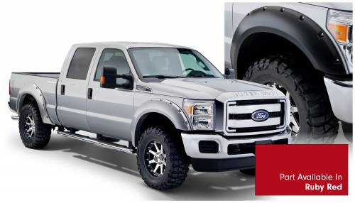 Bushwacker - Bushwacker Fender Flares,Ford (2011-14) F-250/F-350/F-450/F-550 Fender Flare Set of 4 Ruby Red(Pocket Style)