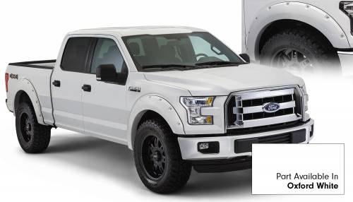 Bushwacker - Bushwacker Fender Flares,Ford (2015) F-150 Fender Flare Set of 4 Oxford White(Pocket Style)