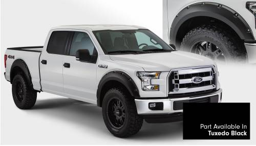 Bushwacker - Bushwacker Fender Flares,Ford (2015) F-150 Fender Flare Set of 4 Tuxedo Black(Pocket Style)
