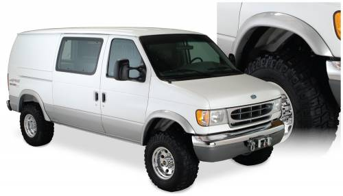 Bushwacker - Bushwacker Fender Flares,Ford (1992-13) E-150/E-250/E-350 (2006-13) E-450 Rear Pair(Extend-A-Fender Flare)
