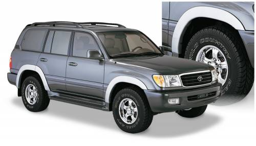 Bushwacker - Bushwacker Fender Flares,Toyota (1998-07) Land Cruiser Set of 4(OE Style)