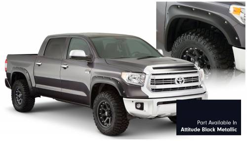 Bushwacker - Bushwacker Fender Flares,Toyota (2014-15) Tundra Fender FlareSet of 4Attitude Black Metallic(Pocket Style)