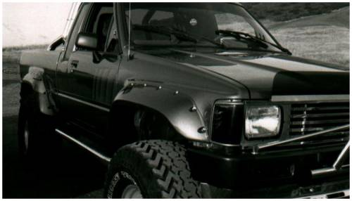 Bushwacker - Bushwacker Fender Flares,Toyota (1984-88) Pickup Rear Pair(Cut-Out)