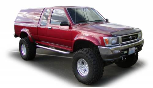 Bushwacker - Bushwacker Fender Flares,Toyota (1989-95) Pickup Rear Pair(Extend-A-Fender Flare)
