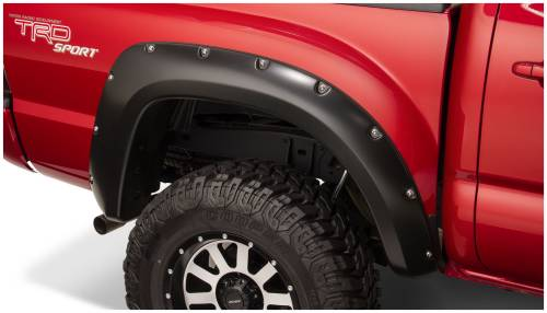 Bushwacker - Bushwacker Fender Flares,Toyota (2012-14) Tacoma Fender Flare Rear Pair(Pocket Style)