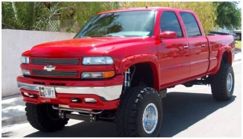 Bushwacker - Bushwacker Fender Flares,Chevy / GMC (1999-07) 1500/2500 (2001-07) 3500 Fender Flare Rear Pair (Pocket Style)