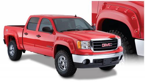 Bushwacker - Bushwacker Fender Flares,GMC Boss (2007-13) 1500 (2013) 2500/3500 Fender Flare Front Pair (Pocket Style)