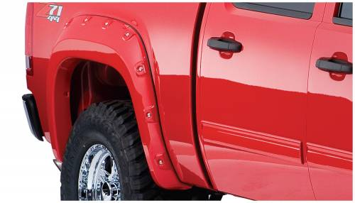 Bushwacker - Bushwacker Fender Flares,GMC Boss (2007-13) 1500 Fender Flare Rear Pair (Pocket Style)