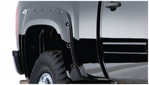 Bushwacker - Bushwacker Fender Flares,Chevy ( 2007-13) 1500 (2007-14) 2500/3500 Fender Flare Rear Pair (Pocket Style)