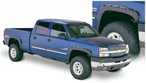 Bushwacker - Bushwacker Fender Flares,Chevy (2003-07) 1500/2500/3500 Fender Flare Set of 4 (Pocket Style)