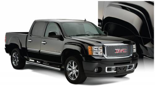 Bushwacker - Bushwacker Fender Flares,GMC (2007-13) 1500 (2007-14) 2500/3500 Set of 4(OE Style)
