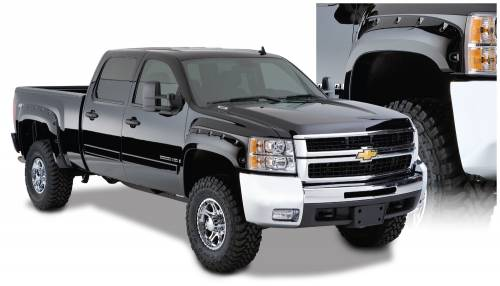 Bushwacker - Bushwacker Fender Flares,Chevy (2007-13) 1500 (2007-14) 2500/3500 Fender Flare Set of 4(Cut-Out)