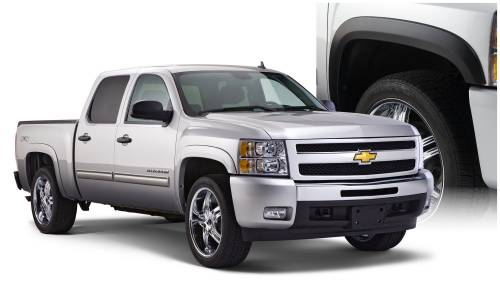 Bushwacker - Bushwacker Fender Flares, Chevy/GMC (2007-13) 1500 (2007-14) 2500/3500 Set of 4 (Street Flare)