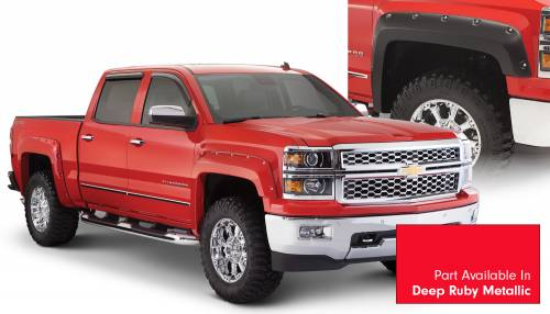 Bushwacker - Bushwacker Fender Flares,Chevy (2014-15) 1500 Fender Flare Set of 4 Deep Ruby Metallic(Pocket Style)
