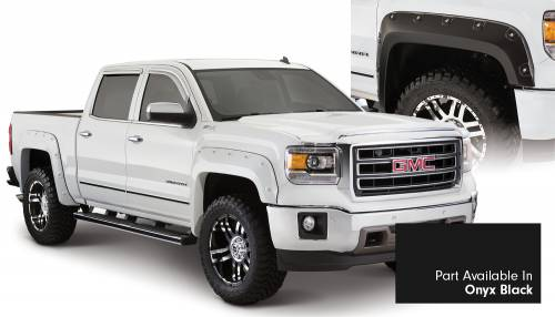 Bushwacker - Bushwacker Fender Flares, GMC Boss (2014-15) 1500 Fender Flare Set of 4 Onyx Black(Pocket Style)