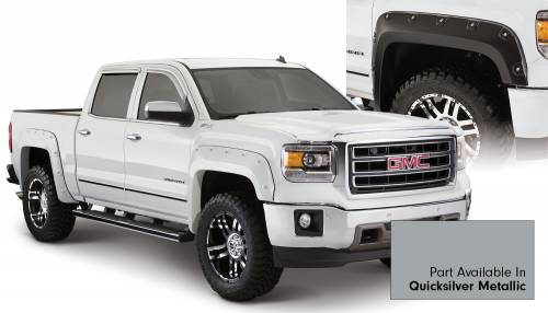 Bushwacker - Bushwacker Fender Flares, GMC Boss (2014-15) 1500 Fender Flare Set of 4 Quicksilver Metallic(Pocket Style)