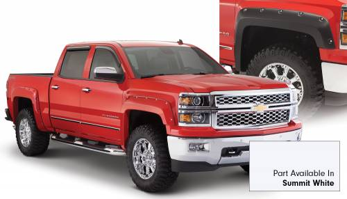 Bushwacker - Bushwacker Fender Flares,Chevy (2014-15) 1500 Fender Flare Set of 4 Summit White(Pocket Style)