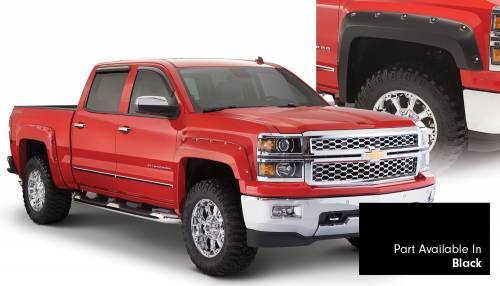 Bushwacker - Bushwacker Fender Flares,Chevy (2014-15) 1500 Fender Flare Set of 4 Black(Pocket Style)