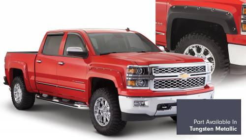 Bushwacker - Bushwacker Fender Flares,Chevy (2014-15) 1500 Fender Flare Set of 4 Tungsten Metallic(Pocket Style)